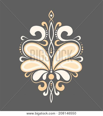 beautiful luxury pattern with curls. Ornament for fabric and decoration. Vector