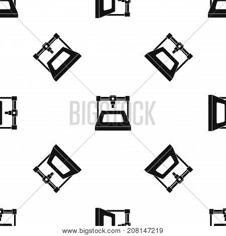 3D printer pattern repeat seamless in black color for any design. Vector geometric illustration