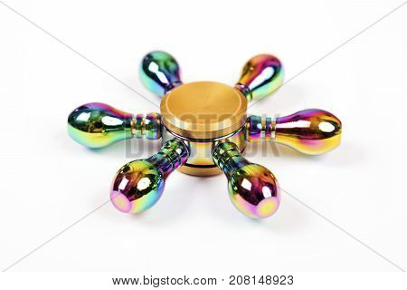 Colorfuul Fidget Spinner isolated on white background