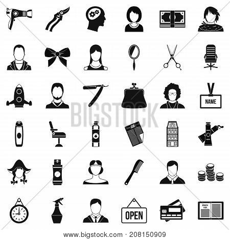 Dryer icons set. Simple style of 36 dryer vector icons for web isolated on white background