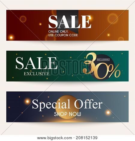 Sale Website Banners Web Template Collection. Can Be Used For Mobile Website Banners, Web Design, Po