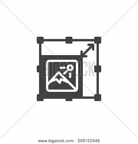 Resize picture icon vector, filled flat sign, solid pictogram isolated on white. Symbol, logo illustration.