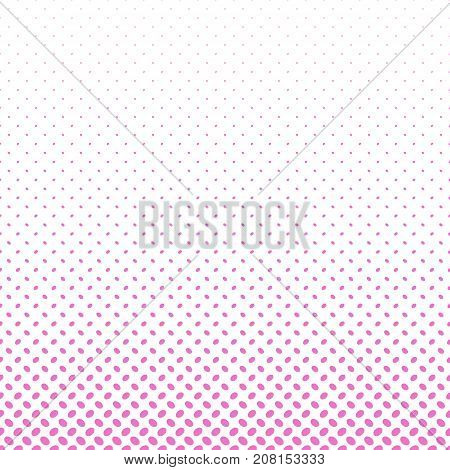 Abstract halftone ellipse pattern background - vector graphic design with diagonal elliptical dots in varying sizes