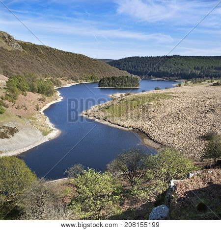 Pen y Garreg reservoir in the Elan Valley, Powys, Wales