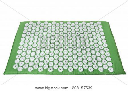 Acupuncture mat for treatment in orthopedics. For the spine