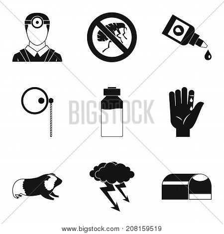 Carrier of disease icons set. Simple set of 9 carrier of disease vector icons for web isolated on white background