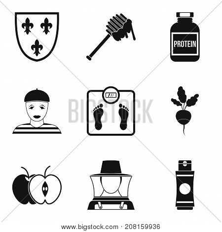 Honey field icons set. Simple set of 9 honey field vector icons for web isolated on white background