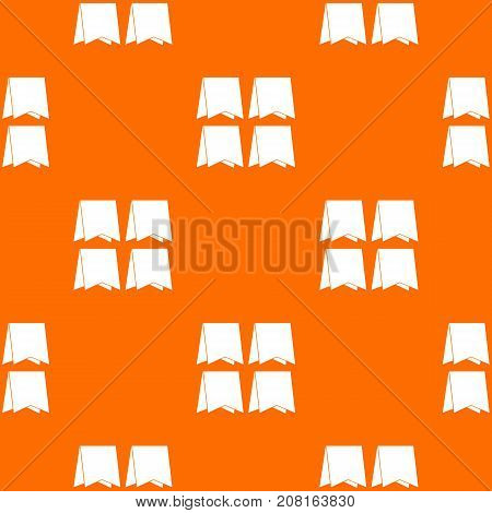 Pennants pattern repeat seamless in orange color for any design. Vector geometric illustration