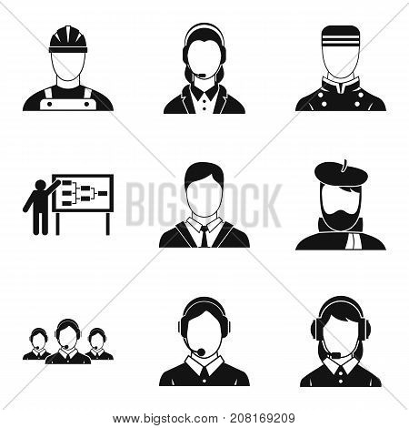 Jack icons set. Simple set of 9 jack vector icons for web isolated on white background