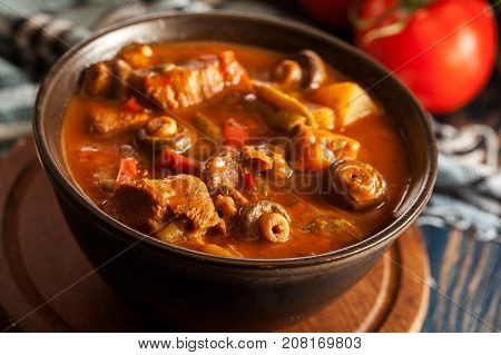 Stew Soup With Meat Potatoes