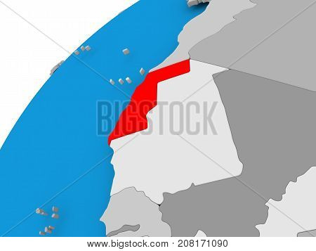 Map Of Western Sahara In Red