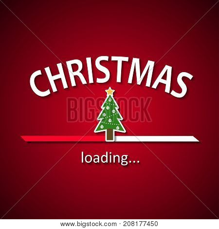 Christmas is loading - Christmas tree loading bar background