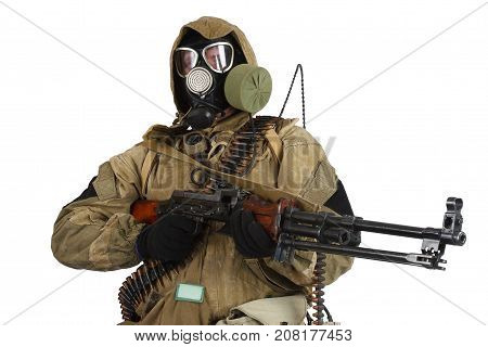 Stalker In Gas Mask With Weapon