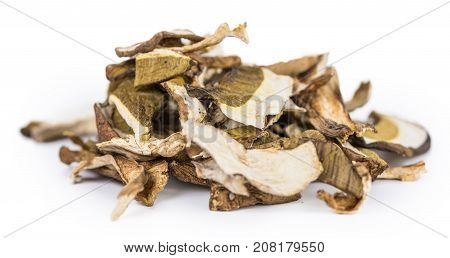 Portion Of Dried Porcinis Isolated On White