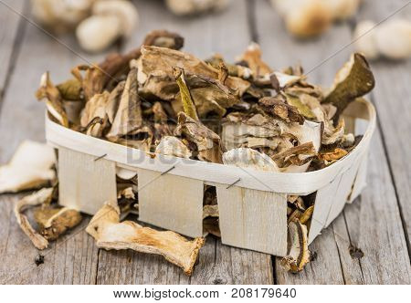 Portion Of Dried Porcinis, Selective Focus