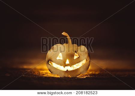 Halloween grinning pumpkin grinning face, mystery, mare, night