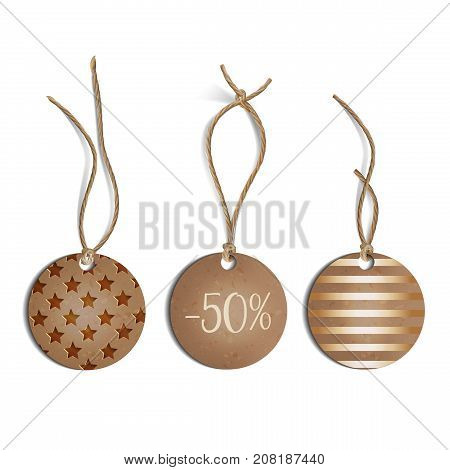 Price tag isolated on a white background