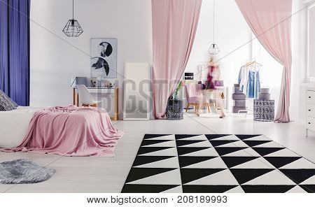Cozy Bedroom With Dressing Room