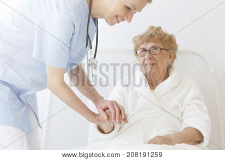 Elderly Patient In Dressing-gown