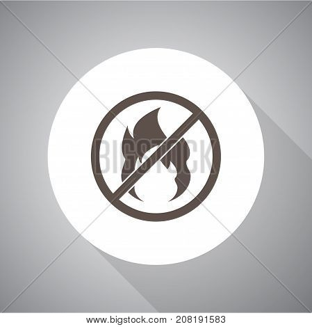 no fire vector Icon. Vector icon for web and mobile.