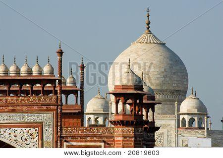 Roof Top Of Taj Mahal