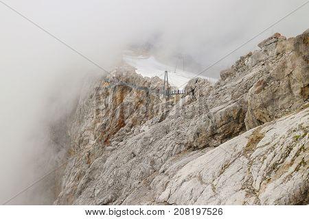 Landscape of skywalk in winter at Dachstein Glacier Salzburg area Austria