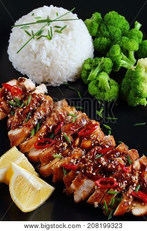 Tasty Teriyaki Chicken Breasts With Rice
