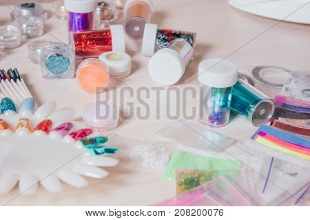 Nail handmade samples. Design templates for beauty salon