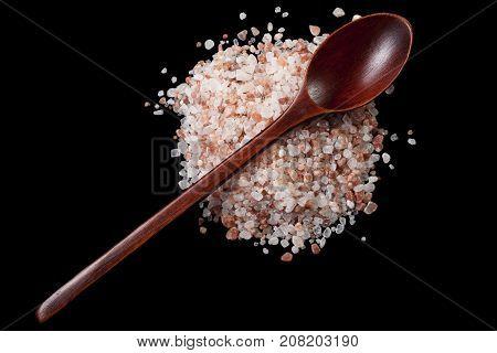 Salt On Black Background