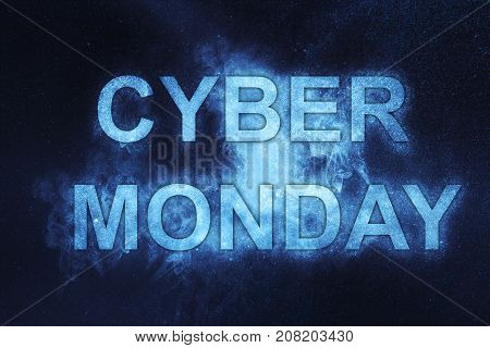Cyber Monday Poster. Holiday Online Shopping Concept.