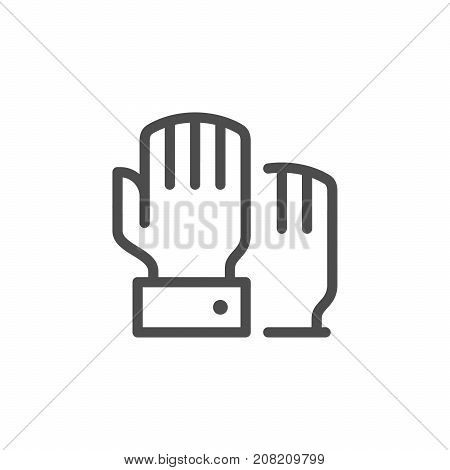 Hand voting line icon isolated on white. Vector illustration