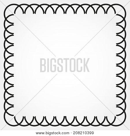 Ornamental decorative frame template. Vector frame background.