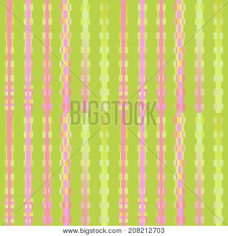 Abstract geometric background. Regular stripes pattern light green, light gray, pink and violet.