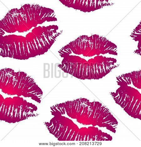 Pink Lips prints collection tile seamless background