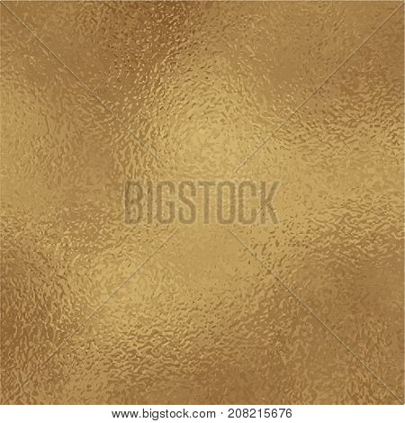 Metallic golden foil texture. Bronze gold foil square vector background. Vintage golden texture swatch. Golden foil backdrop for elegant wedding invitation. Antique gold wallpaper or banner template
