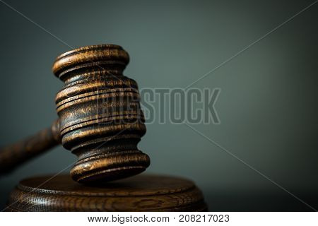 justice and law concept image. Courtroom theme