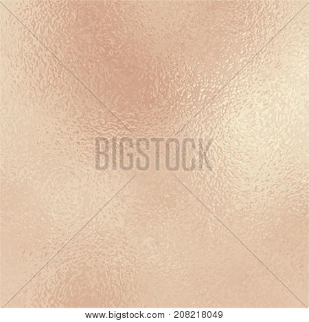 Metallic golden foil texture. Rose gold foil square vector background. Vintage golden texture swatch. Golden foil backdrop for elegant wedding invitation. Pale pink gold wallpaper or banner template