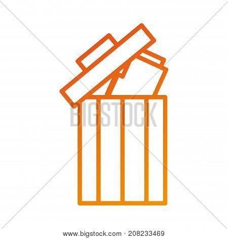 trash can folder file information delete web vector illustration