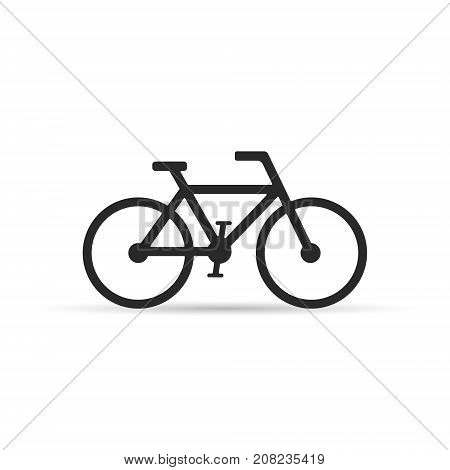 Bicycle icon isolated on white background. Vector illustration.