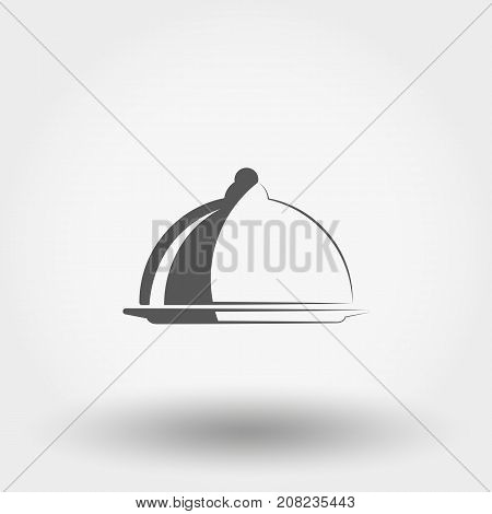 Serving dish with a lid. Icon for web and mobile application. Vector illustration on a white background. Flat design style.