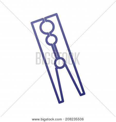 classic wooden clothes peg laundry icon vector illustration
