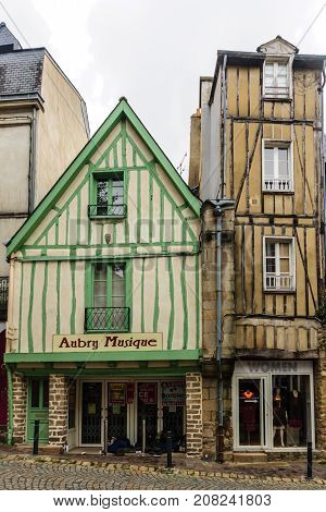 Half-timbered Houses,  In Vannes