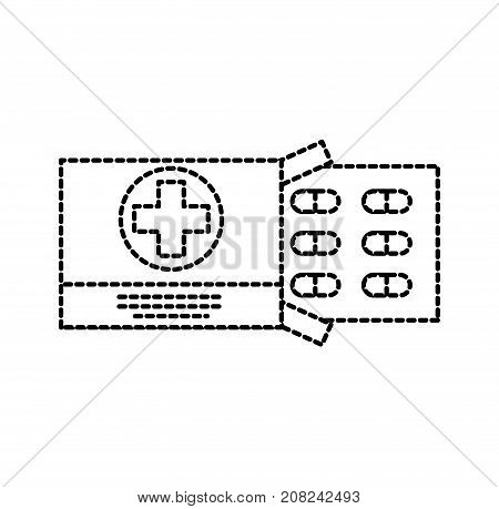 pain treatment medical drug package for tablet vitamin antibiotic vector illustration