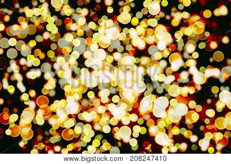 White Soft Violet Lights Festive background, abstract Christmas twinkled bright background with bokeh defocused silver lights