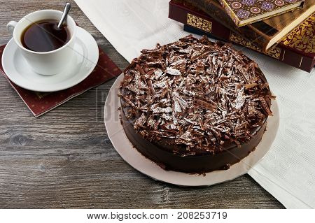 Delicious Dark Chocolate Truffle Cream Cake