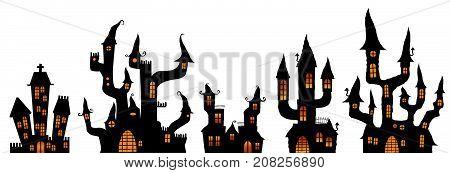 Different Halloween Castles