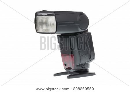 Modern Camera flash isolated on white background.