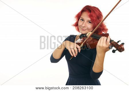 Musician Young Woman Playing Violin