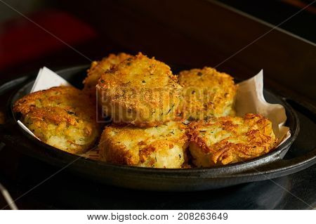 Vegetable Cutlets With Rice Fried In Breadcrumbs