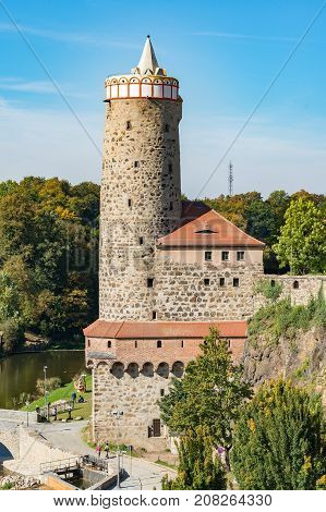 Old stone Waterworks in Bautzen, Saxony - Germany